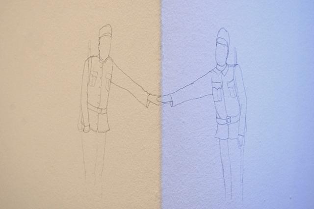 Tranker Kata: Posztumusz, ceruza, fal,20x 40 cm, 2010